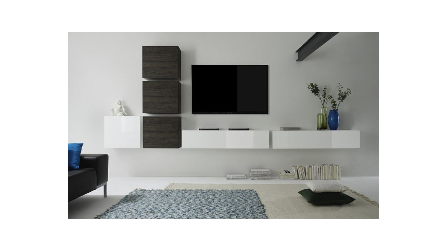 Composici N Sal N Tv Kubbe 9 Muebles De Tv Decoraci N Del Sal N # Muebles Suspendidos Para Tv