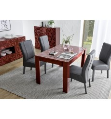 Mesa de comedor extensible LUTHER granate 137-185x79x90 cm